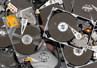 Hard drives being recycled.