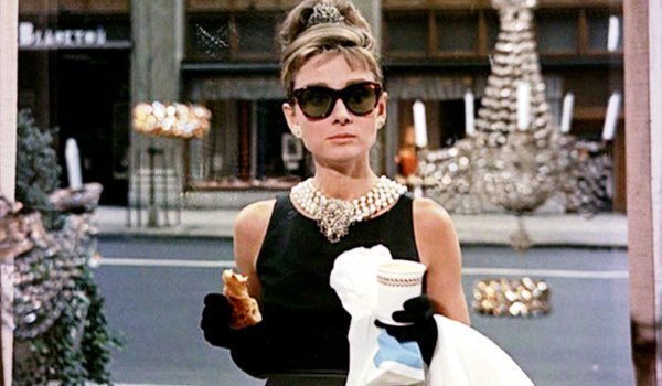 Breakfast at Tiffany's Audrey Hepburn Holly enjoying breakfast