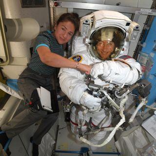 All-Female Spacewalk Back on After NASA Sends Up 2nd Medium Suit