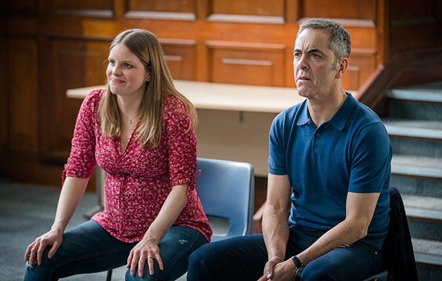 Cold Feet. Shows Adam at a Drama therapy workshop