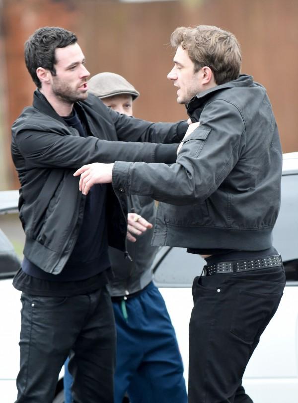 Corrie's Callum attacks Andy (Rex)