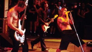 Red Hot Chili Peppers performing at Tibetan Freedom Concert, June 1998