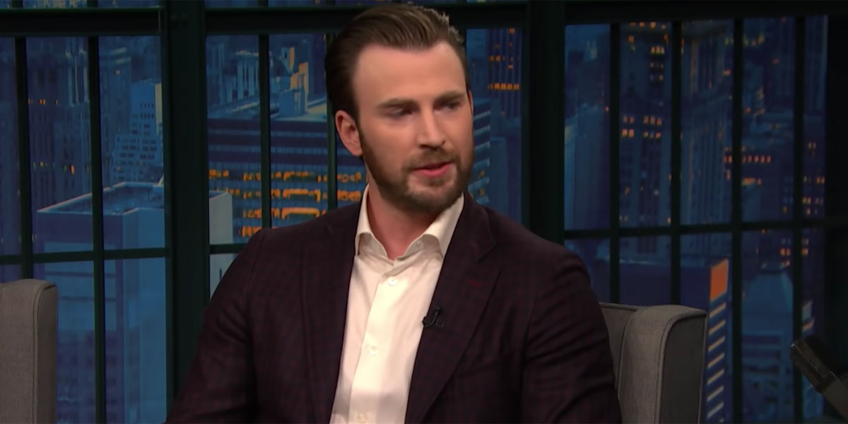 Chris Evans on Late night after saving theater company