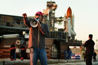 "Michael Bay directs ""Transformers: Dark of the Moon"" at NASA's Kennedy Space Center"