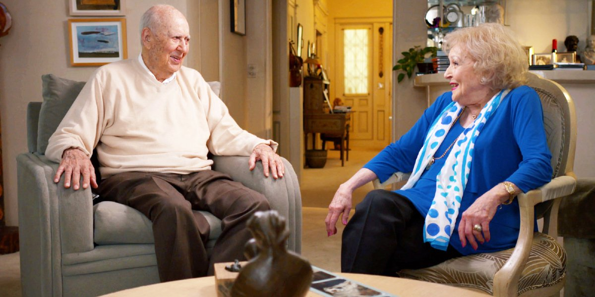 Carl Reiner and Betty White in If You're Not In The Obit, Eat Breakfast