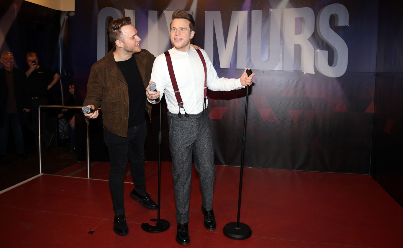 Olly Murs unveils waxwork at Madame Tussauds in Blackpool.