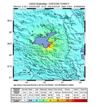 van earthquake shakemap