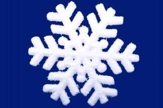 homemade borax snowflake