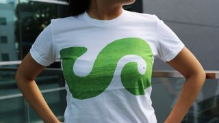 negative space: The Typefaces T-shirt with illustration of a snake in the negative space of a letter S