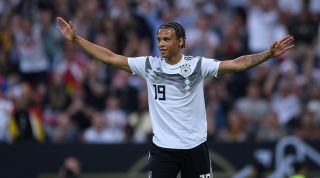 Leroy Sane playing for Germany