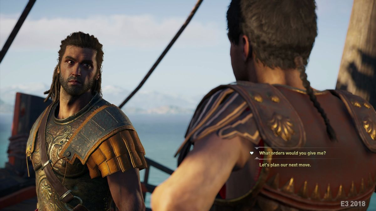 Leaked Assassin S Creed Odyssey Screens Show Dialogue Options World Map And Ship Combat Pc Gamer