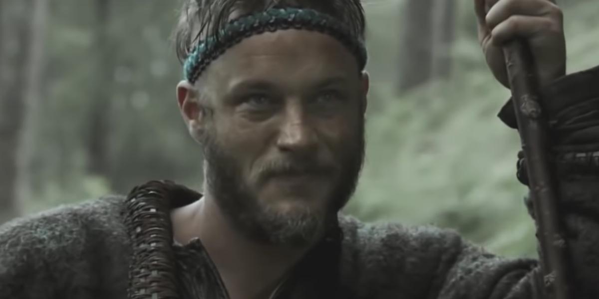 Ragnar Lothbrok planning an attack in Season 1 of Vikings