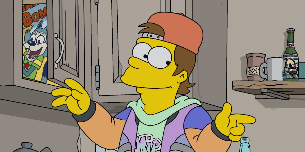 homer simpsons as a teenager in the '90s on the simpsons