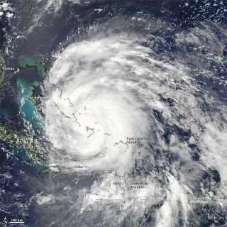 Irene Over the Bahamas