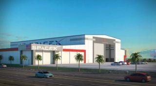 SpaceX hangar expansion art