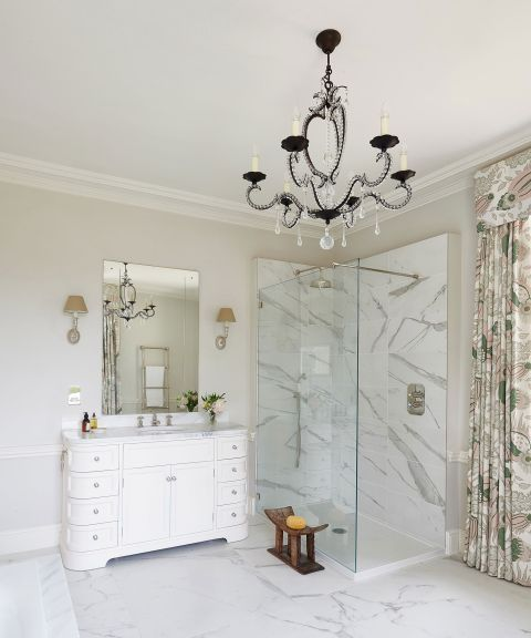 Bathroom Lighting Trends From Statement Pendants To Pretty Sconces Homes Gardens