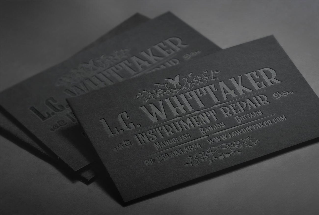 letterpress business cards: LG Whittaker