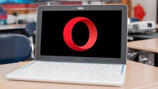 Opera browser logo on a Google Chromebook