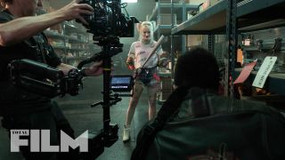 Margot Robbie behind the scenes of Birds of Prey