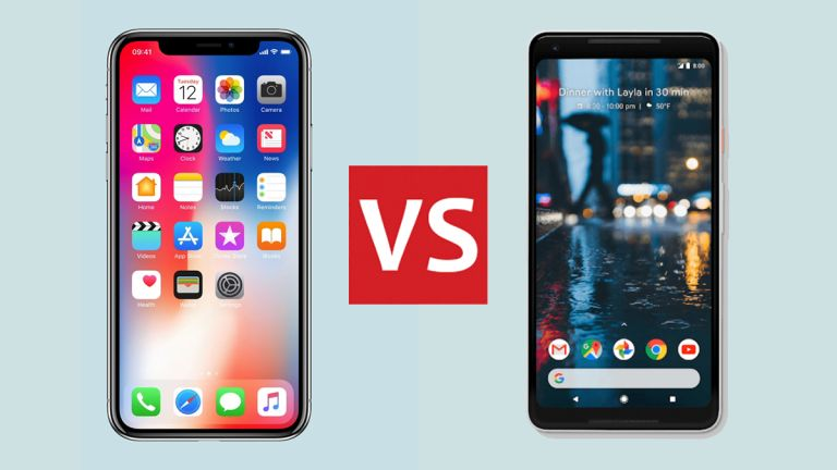iPhone X and Google Pixel 2 XL