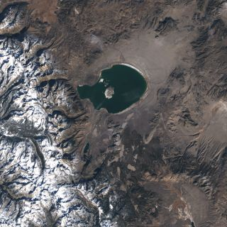 Mono Lake, California, a potentially active volcano.