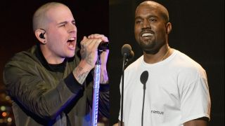 A picture of M Shadows and Kanye West