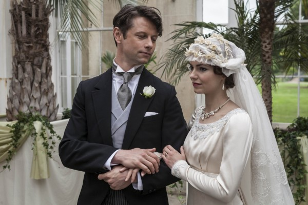 Leon plays Russian prince Serge De Bolotoff who marries Harry Selfridge's oldest daughter Rosalie played by Kara Tointon (ITV)