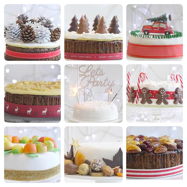 christmas cake decorating ideas - Christmas Dessert Decorations