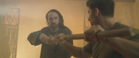Nicolas Cage and Alain Moussi star in 'Jiu Jitsu,' about a solider with amnesia who learns he's the last line of defense against an alien warrior.