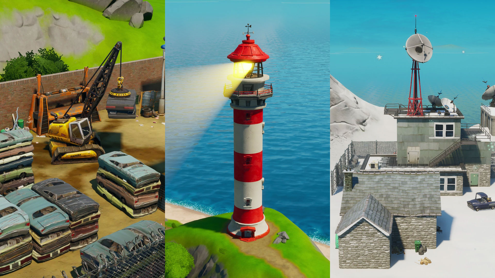 Fortnite Compact Cars Lockie S Lighthouse And Weather Station Locations Where To Dance For The Forged In Slurp Challenge Gamesradar