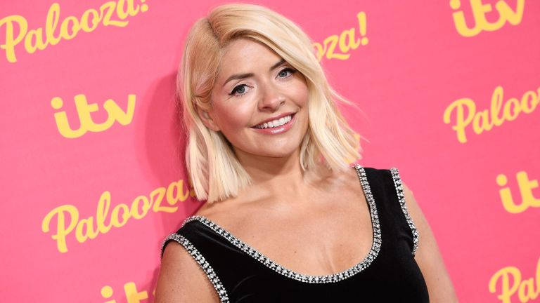 Holly Willoughby smiles for the camera