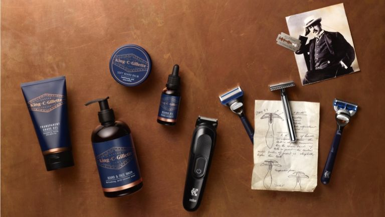 Gillette King C Gillette beard trimmer, shavers and toiletries range