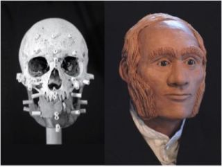 A facial reconstruction of John Gregory, the first explorer from the disastrous 1845 Franklin expedition to have his remains identified.