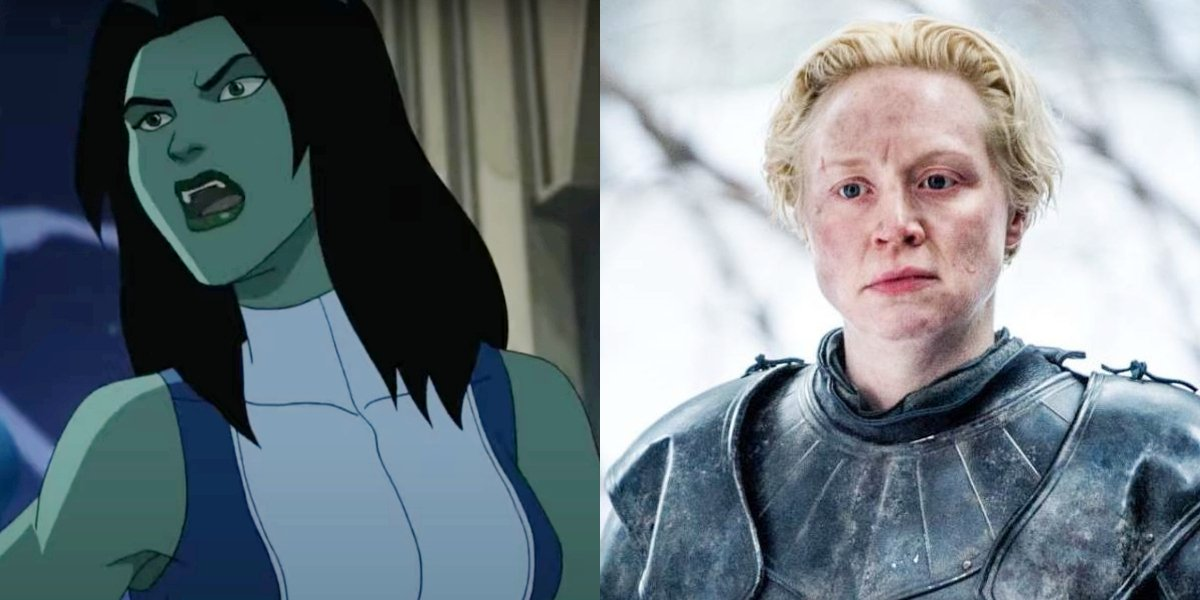 She-Hulk and Gwendoline Christie in Game Of Thrones