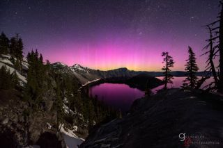 Aurora Over Crater Lake, OR