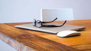 Glasses on a Macbook