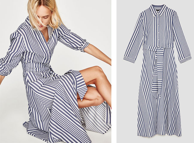 8c7ae053264 Out Zara Striped Shirt Dress Is Back In Blue And We Love It