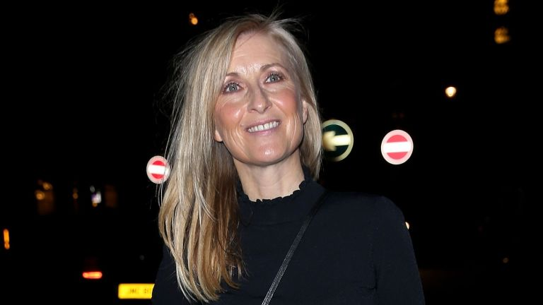 Fiona Phillips wearing black