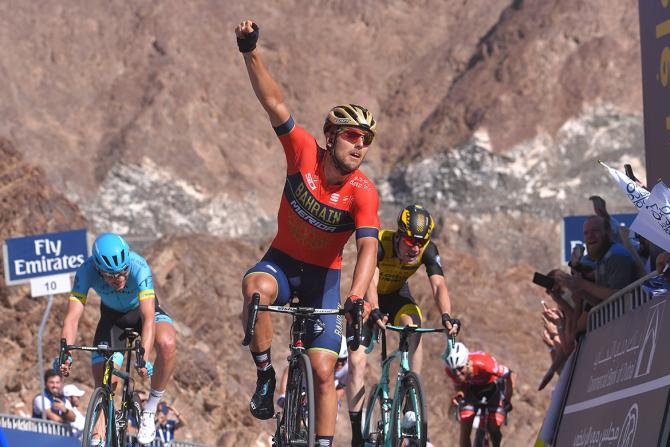 Sonny Colbrelli wins stage 4 of the Dubai Tour