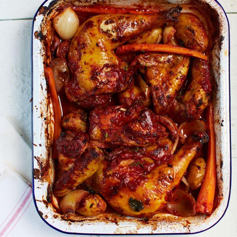 Rachel Khoo Roasted Red Wine Chicken