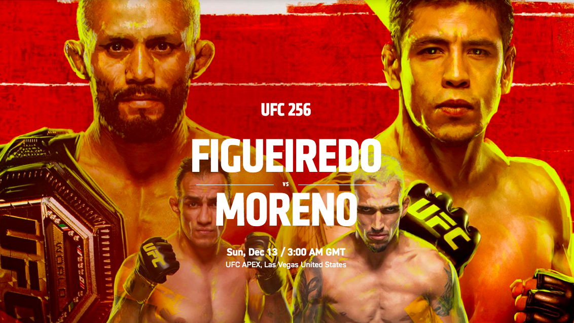 Ufc 256 Free Live Stream Start Time How To Watch Figueiredo Vs Moreno What Hi Fi Total sportek update the fastest and fullest sport events including soccer streams schedule on tv channel. ufc 256 free live stream start time