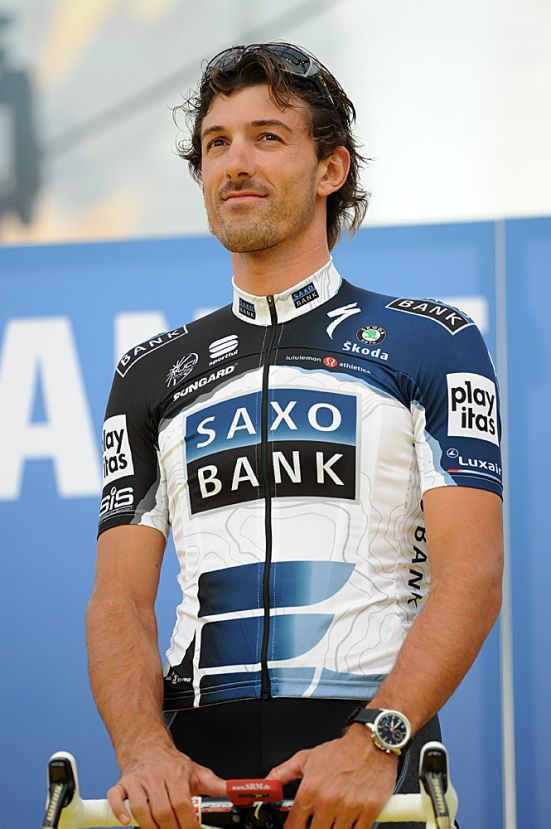 Fabian Cancellara Saxo Bank Tour de France 2010 team presentation Rotterdam.jpg
