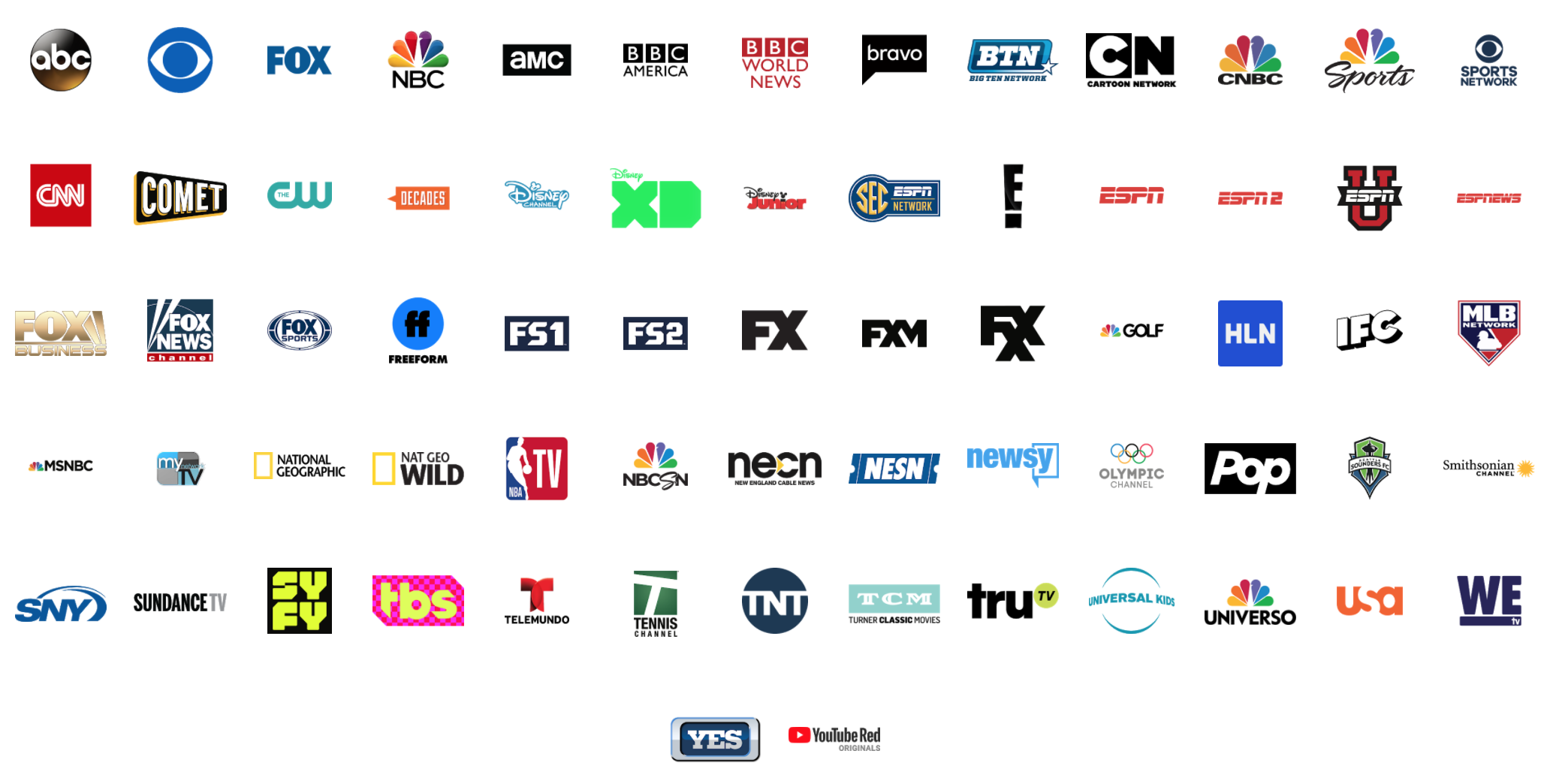 graphic about Spectrum Tv Channel Guide Printable titled YouTube Television channels: Heres each accessible channel upon