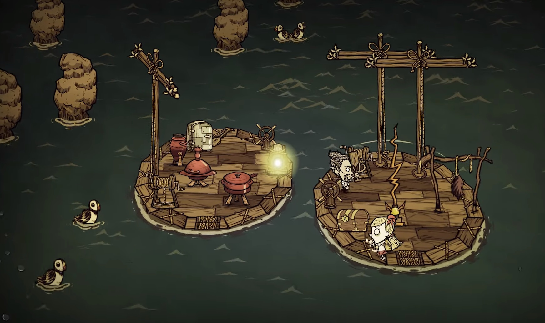 Don't Starve ther introduces rickety multiplayer boats ... on bloodborne map, dark souls map, dead rising 3 map, dragon age: inquisition map, h1z1 map, dying light map, five nights at freddy's map, strider map, lords of the fallen map, damnation map, assassin's creed unity map, crackdown 2 map, icewind dale map, destiny map, axiom verge map, the crew map, terraria map, project zomboid map, the elder scrolls online map, everybody's gone to the rapture map,
