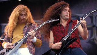 Megadeth in 1991: Dave Mustaine and Marty Friedman