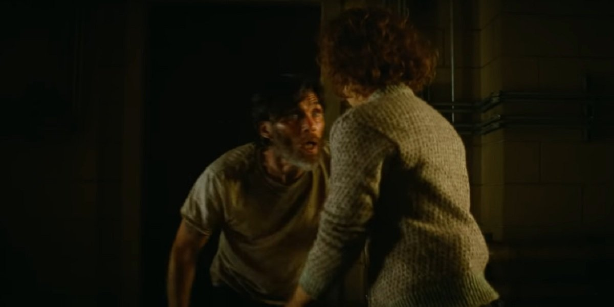 Cillian Murphy looking stressed in A Quiet Place 2