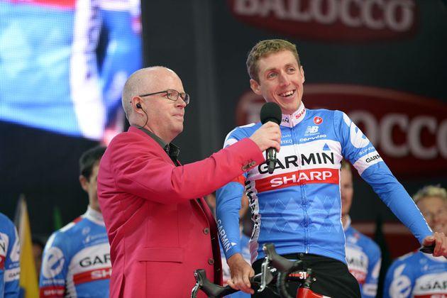 Dan Martin at the team presentation of the 2014 Giro d'Italia
