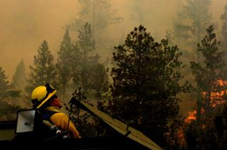 National Guard photo of the High Park fire