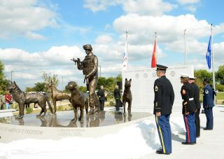National Monument Honors Combat Dogs