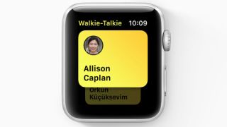 Apple Watchin Walkie-Talkie-ominaisuus